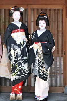 Geiko Ayano and Maiko Fumino