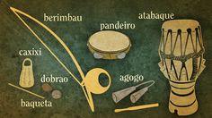 instrumentos de capoeira desenho - Pesquisa Google