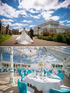 Isla Gladstone Liverpool Wedding Venue Decorated In The Most Amazing Blue Theme Inside And Outside