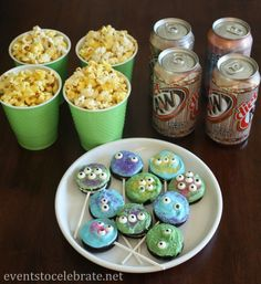 Monsters University Party - Movie snacks including Oreo Monster Pops! - events to CELEBRATE! #shop
