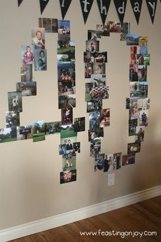 Fortieth Birthday Number Wall Photos More