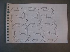 My Quilt Diary: Search results for cats  pattern used for tessellating cats.  Makes me think of Escher