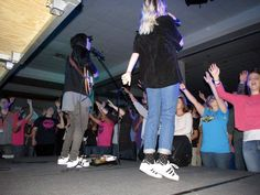 Jumping in Worship at NYM Western Youth Convention, North Platte, November 2016