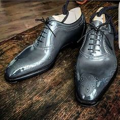 Handmade Men's Leather Brogue Shoes, Men's Lace Up Gray Color Stylish Shoes sold by LeathersPlanet. Shop more products from LeathersPlanet on Storenvy, the home of independent small businesses all over the world. Leather Brogues, Leather Men, Suede Oxfords, Grey Leather, Cowhide Leather, Soft Leather, Custom Design Shoes, Leather Dress Shoes, Men's Dress Shoes