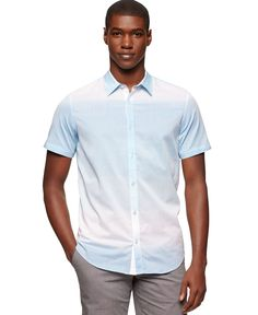Calvin Klein Ombre Horizontal Striped Shirt