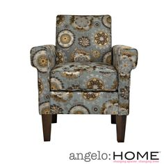 angelo:HOME Ennis Vintage Tapestry Blue Chair | Overstock.com