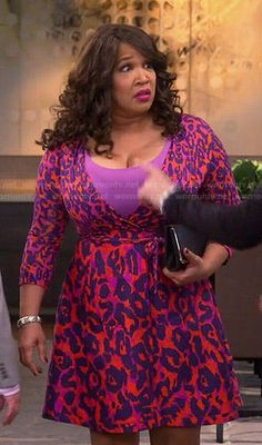 Yolanda's red leopard print wrap dress on Young and Hungry Fashion Tv, Fashion Outfits, Kym Whitley, Young & Hungry, Red Leopard, Latest Outfits, Crop Blouse, Nordstrom Dresses, Poplin