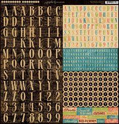 Tropical Travelogue Cardstock Alphabet Stickers
