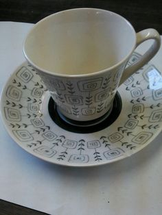 Stavangerflint Tea Cup and Saucer Norway Inger Waage St. Hans