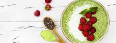 Creamy, healthy and sweet, our Fruity Matcha Chia Pudding will have you feeling on fleek thanks to its rich combination of chia seeds, yogurt and matcha. Matcha Chia Pudding, Spring Treats, Miso Soup, Hot Chocolate Recipes, Matcha Green Tea, Tea Recipes, Chia Seeds, Yummy Snacks, My Favorite Food