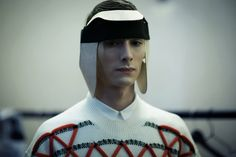 """Fashion doesn't have to make sense - just ask Henrik Vibskov. """"The whole collection is about miscommunication"""" the Danish designerexplained backstage."""