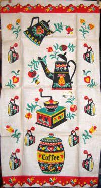 Vintage Linen Tea Towel. Great Colors! | Vintagy Yumminess | Pinterest |  Towels, Linens And Teas