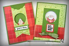 Art Impressions Rubber Stamps: Santa & Mrs. Mini Set by Karen Day