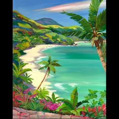 I love her (Shari Erickson) paintings! This one is 'Hawksnest Beach'.