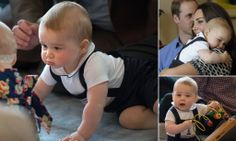 Prince George meets New Zealand babies #DailyMail