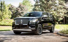 Download imagens Lincoln Navigator, 2017, preto Navigator, SUV de luxo, Os carros americanos, Lincoln