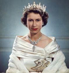Princess Elizabeth (detail) by Yousuf Karsh (1951)