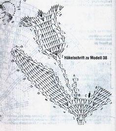 Blog de celeste :Minhas  Artes  Diversas, Gráfico das Tulipas de crochê