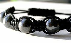 Shamballa Style Bracelet (Black Hematite Beads)The perfect Valentines day gift! Valentine Day Gifts, Valentines, Craft Work, Fashion Bracelets, Jewelry Design, Jewellery, Beads, Style, Valentine's Day Diy