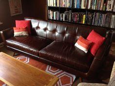 Nixon Leather Sofa in Brompton Brown