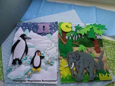 Quiet Book: pen quin and elephant