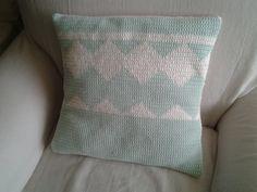 Funda almohadón de crochet