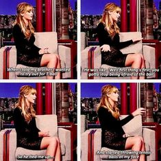 I love Jennifer Lawerance because she is soo funny and not afraid to say what is on her mind:)