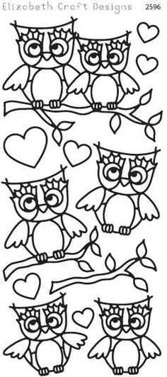 Elizabeth Craft Designs Peel-Off stickers for card making and scrapbooking Adult Coloring Pages, Coloring Sheets, Diy And Crafts, Arts And Crafts, Elizabeth Craft Designs, Cute Owl, Learn To Draw, Stone Art, Design Crafts