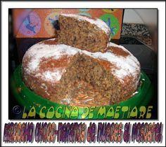 La cocina de Maetiare: Bizcocho de chocolate, naranja y nueces aromatizado con moscatel