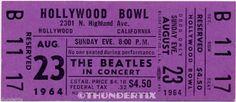 11 1964 The Beatles Full Unused Concert Tickets Scrapbooking Frame Reprint Set 1 | eBay