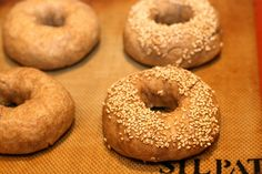 Going to try These bagels!  Haven't made bagels in years, but these look healthy and yum!    Whole Wheat Sourdough Bagels by cheeseslave, via Flickr