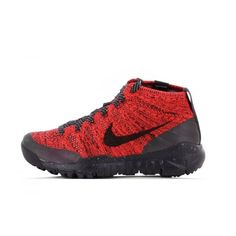 Nike - Nike Basket Free Flyknit Chukka  pas cher- 805093-603 Rouge - Maille