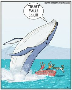 My friends do this!! Except...well..they're not whales. almost the same.
