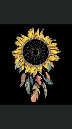 Sunflower Quotes, Sunflower Pictures, Sunflower Art, Sunflower Tattoos, Tattoo Drawings, Art Drawings, Art Hippie, Sunflower Wallpaper, Future Tattoos