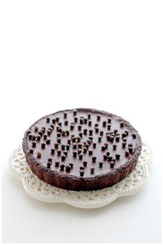 chocolate rum truffle tart