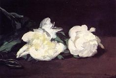 Branch of White Peonies and Secateurs - Edouard Manet