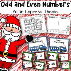 Odd and Even Numbers Polar Express Theme