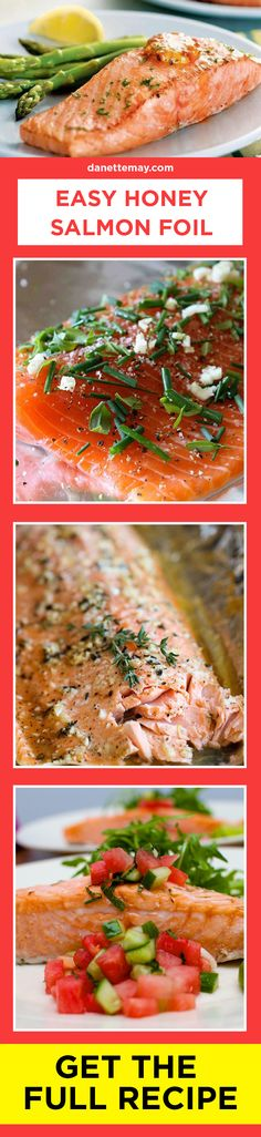 Healthy recipes don't get any easier than this delicious Honey Salmon Foil!
