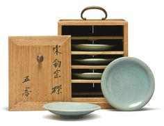 Five 'Jun' saucer dishes, Northern Song Dynasty
