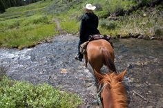 Riding outside of Big Sky Montana with Lone Mountain Guest Ranch.