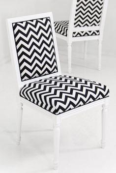 Bordeaux Chevron Print Dining Chair by ModShop