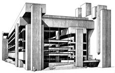 Yale Art and Architecture Building (Rudolph Hall) / Paul Rudolph (1918 – 1997) /  New Haven, Connecticut - USA. 1963