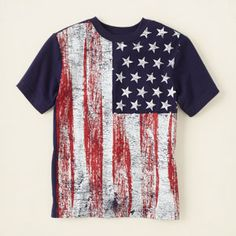 boy - outfits - americana - American flag graphic tee | Childrens Clothing | Kids Clothes | The Childrens Place