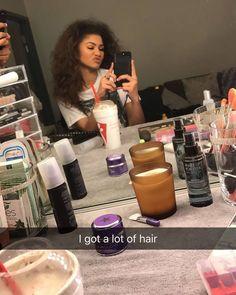 Zendaya via Snapchat (Zendaya_96) I got a lot hair.