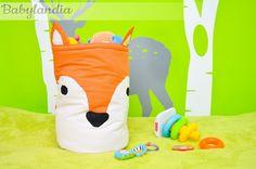 BABYLANDIA :): Lisek - kosz na zabawki :)