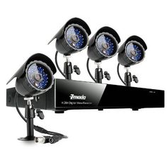 Zmodo 8CH H.264 Security Video DVR CCTV Surveillance Camera System With 500GB Hard Drive 4 Sony CCD Night Vision IR Camera by ZMODO. $243.50. Overview This surveillance camera monitoring system provides everything you will need to protect your home or business, safeguard your loved ones, and deter intruders. The system includes a state-of-the-art 8 channel H.264 DVR with 500GB HDD and 4 Sony CCD day/night cameras, and allows for the simultaneous viewing and recording of...