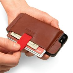 Wally, a wallet that attaches to the back of your mobile phone ... cool!