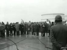 Polygoon Journaal: Wederopbouw Rotterdam: Van der Mandele schakelt lasapparaat in (Opbouwdag 1963)