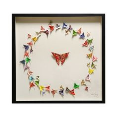 Butterfly Wall ART Circle OF Life 3D Framed Origami Artwork | eBay