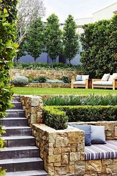 Worth trying 10 Tropical Backyard Garden Ideas for you. It is a good time and here are some of the nicest Tropical Backyard Garden Ideas that you can use to Lift Your Outdoor decor and Exterior Improv Terraced Landscaping, Small Backyard Landscaping, Backyard Patio, Landscaping Ideas, Backyard Ideas, Patio Ideas, Garden Ideas, Terraced Backyard, Desert Backyard
